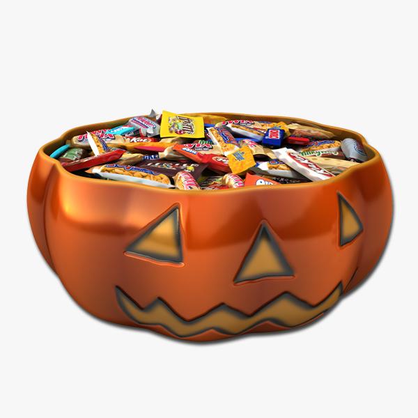 pumpkin candy bowl 3d 3ds