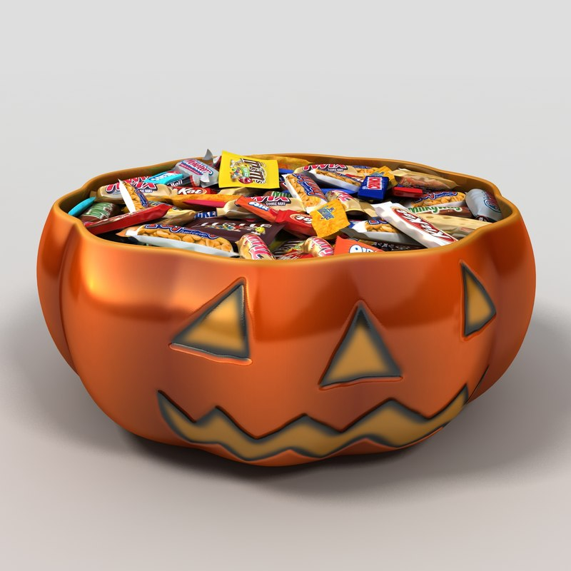 pumpkin candy bowl 3d 3ds