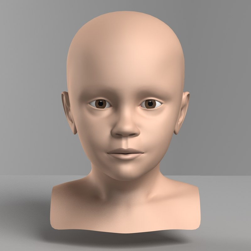 3d model child head