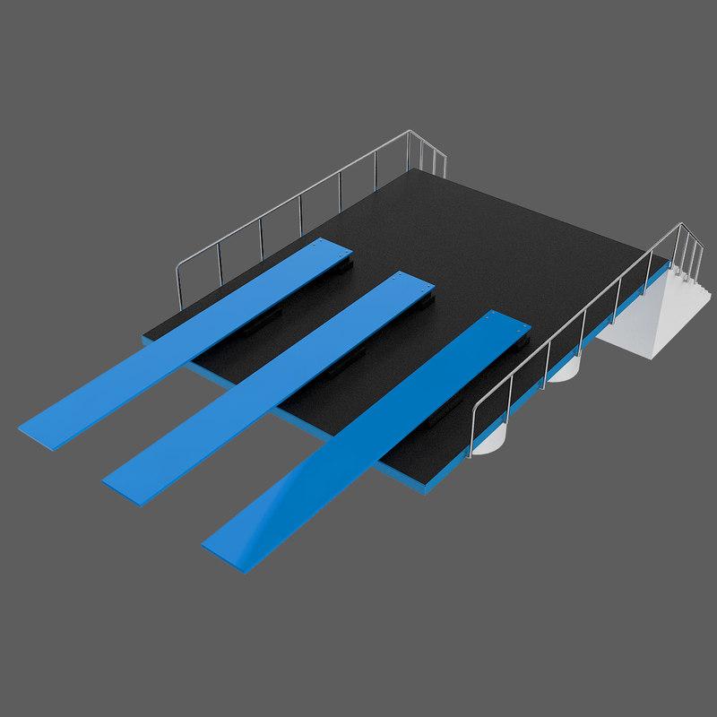 3d diving ramp model