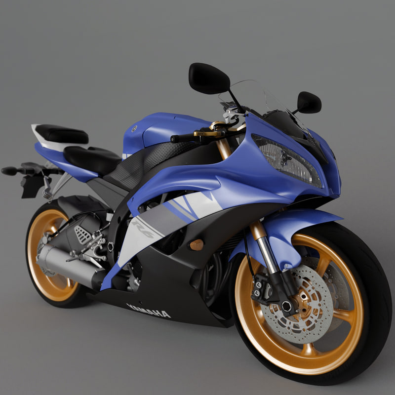 3d model yamaha r6 motorcycle engine