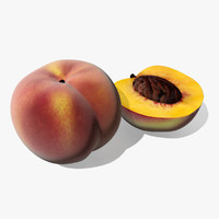 3d peach model