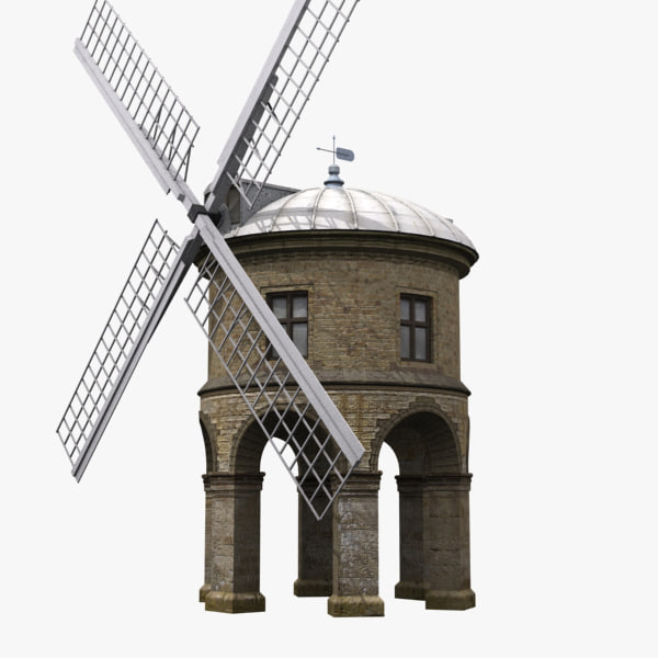3d model chesterton windmill