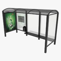 bus shelter 3d 3ds