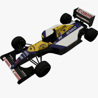 3d model nigel mansells fw14b car