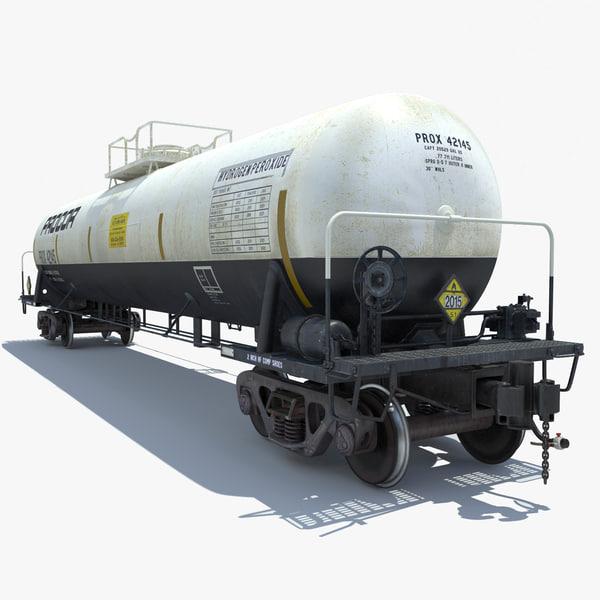 railway cargo cistern train 3d model