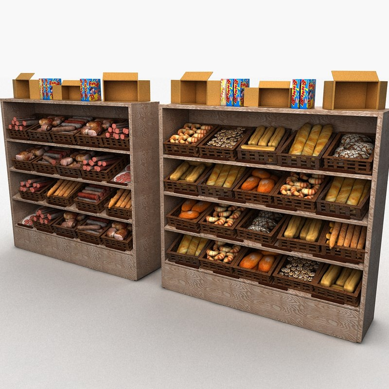 stand butcher store 3d max