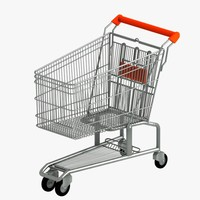 shopping trolley 3d obj