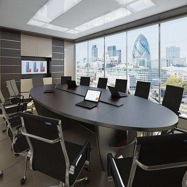 conference room 3d obj