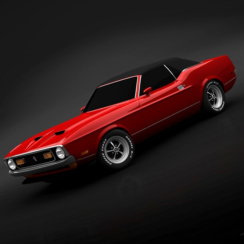 3ds max 1972 mustang convertible