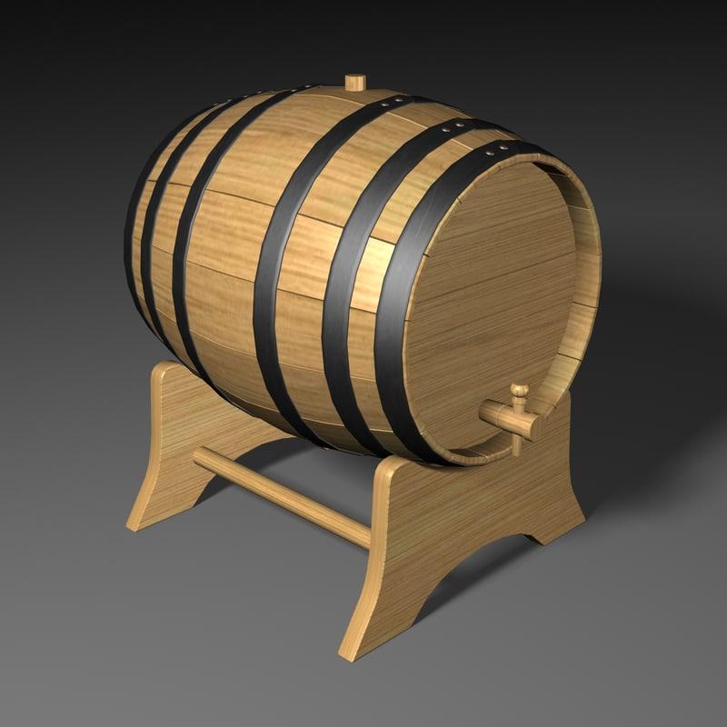 wine barrel 3d 3ds