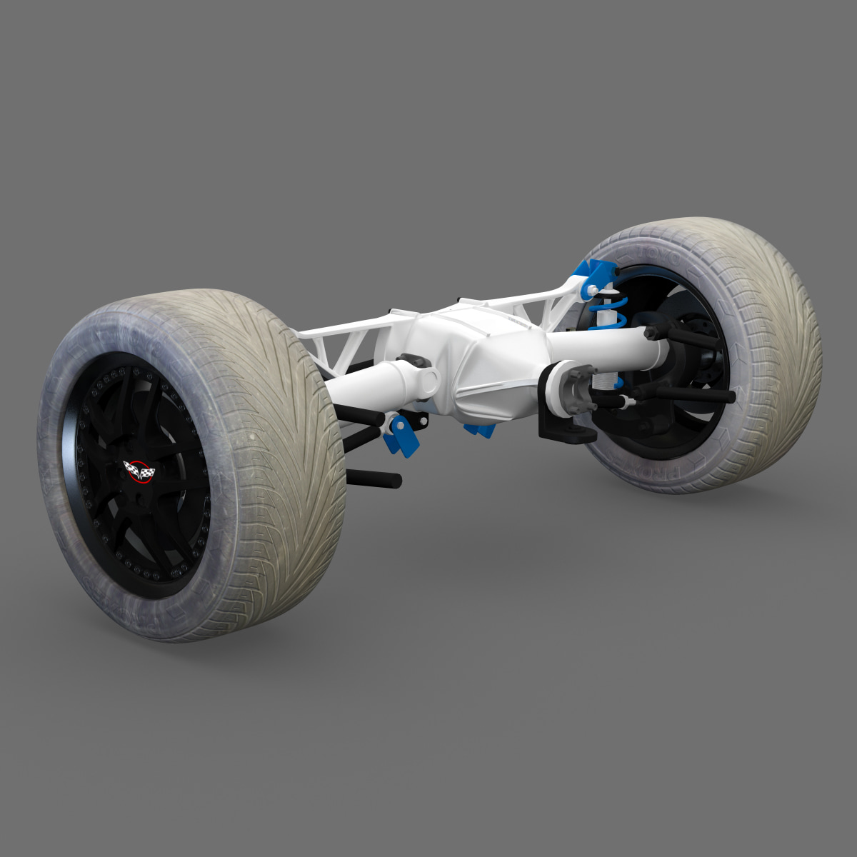 3ds max rear suspension