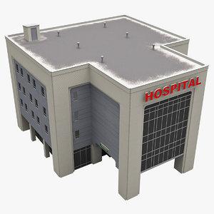 hospital building 3d model