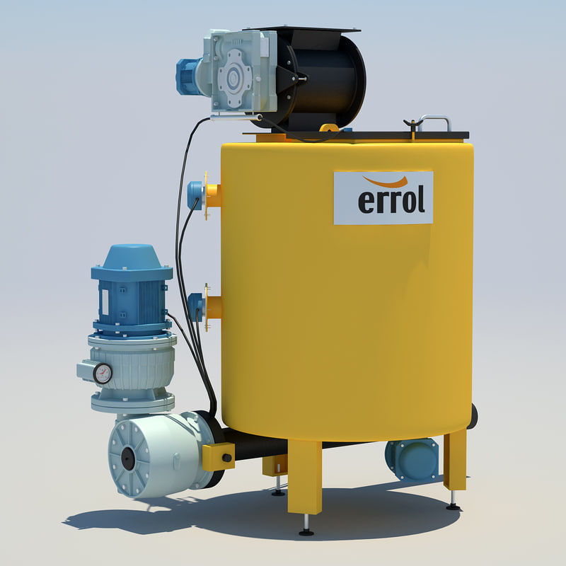 industrial water heating 3d model