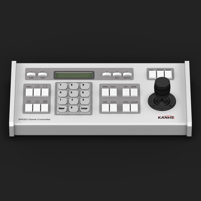 3d model keyboard controller cameras 2