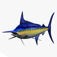 3ds max marlin fish