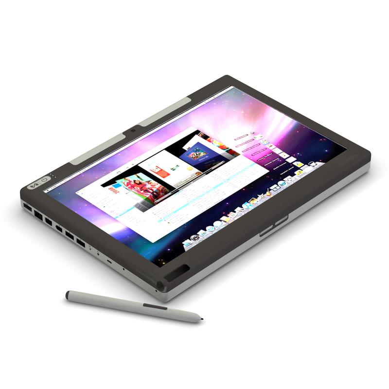 modbook apple tablet 3d model
