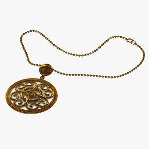necklace 5 3ds