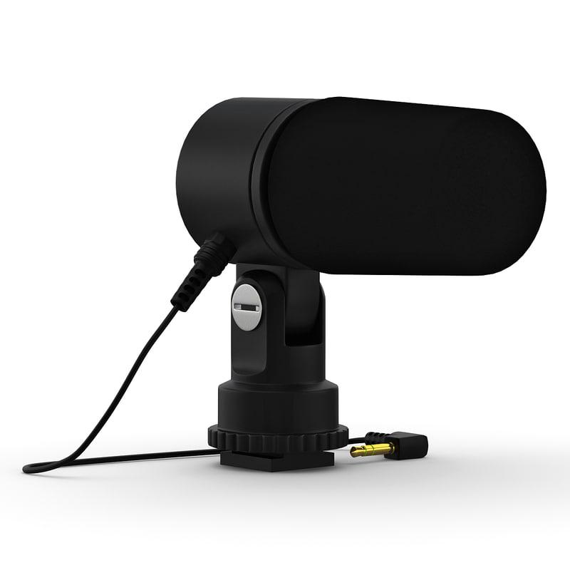 nikon stereo microphone 3d obj