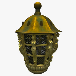 old ship lamp 3d 3ds