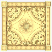 wall panel decor 3d xsi