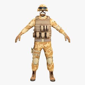 sas soldier clothes 3d model