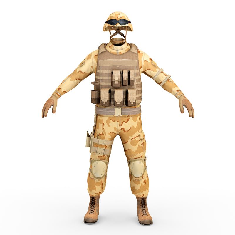 sas soldier clothes 3d model