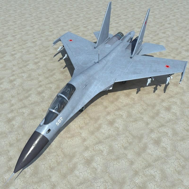 3d su-30 2 rigged