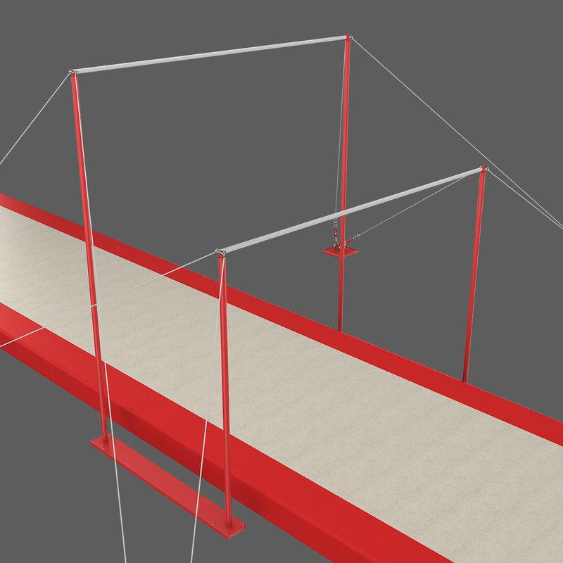 3d gymnastics uneven bars
