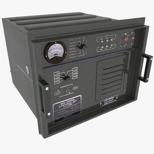 3d max army radio amplifier