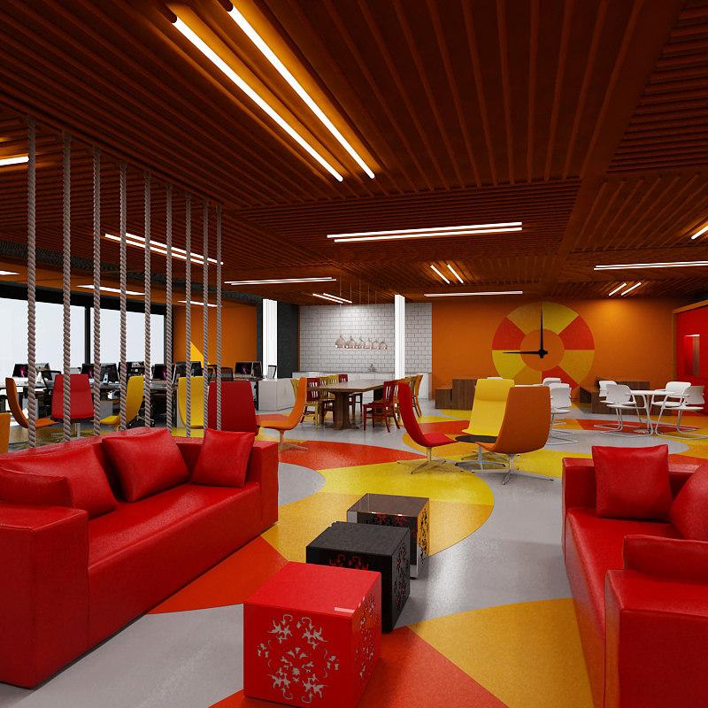 3d model interior office scene