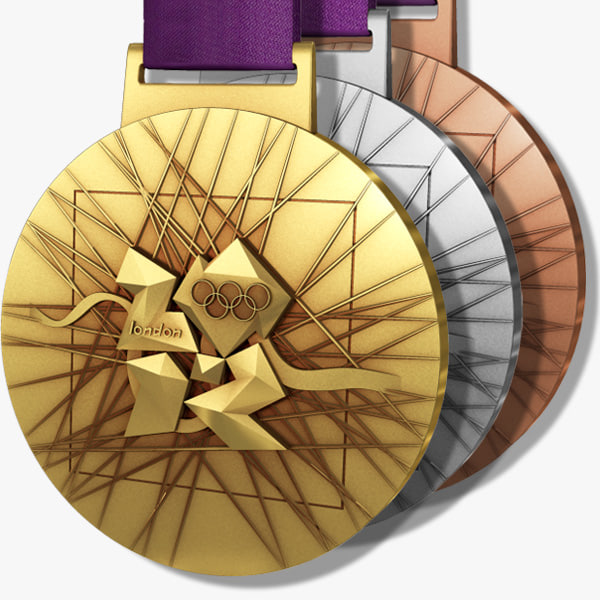 3d model london 2012 olympics medals