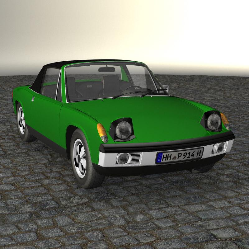porsche 914 3d model