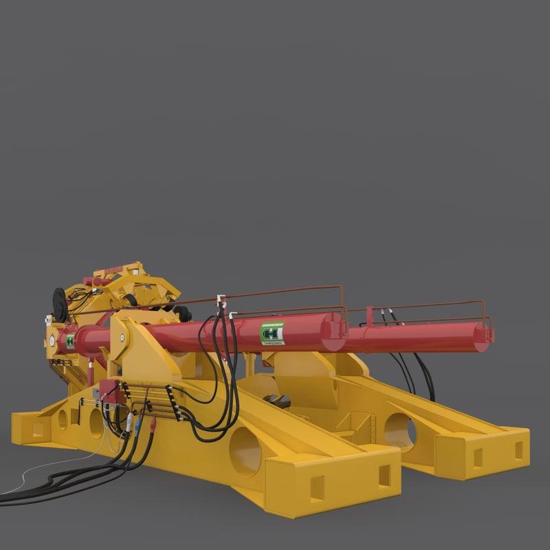herrenknecht pipe thruster rigged 3d model