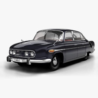 tatra 603 luxury car 3d model