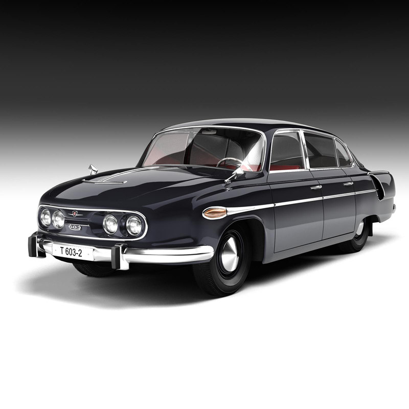 tatra 603 luxury car 3d model