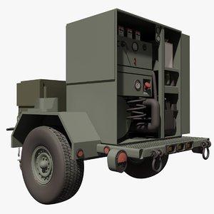 military porter steam cleaner 3d model
