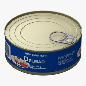 3d model canned tuna 2