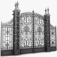 classic gate elegant 3d model