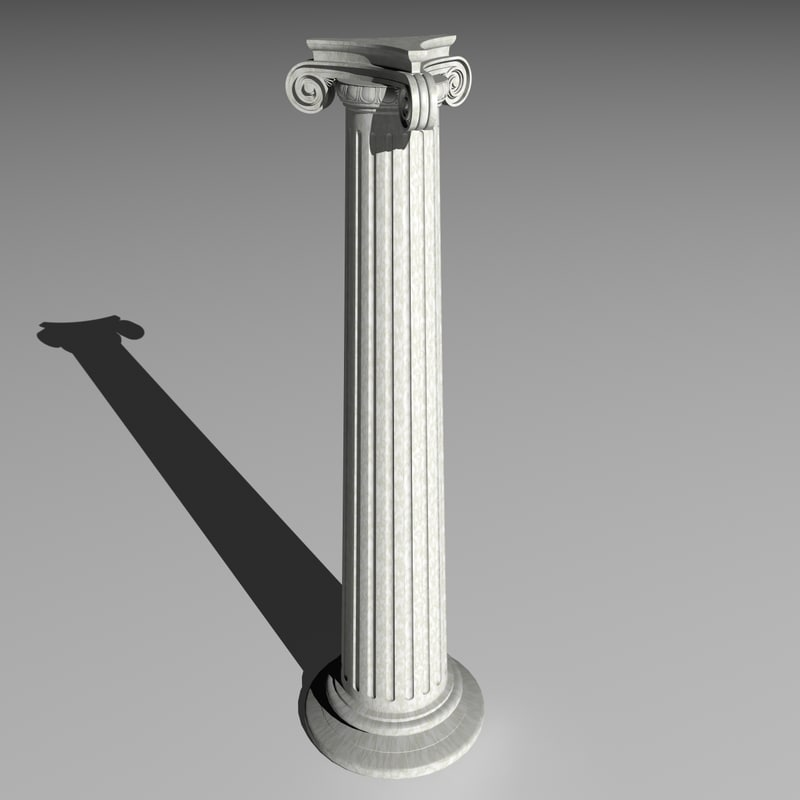 3ds max ancient greek column ionic