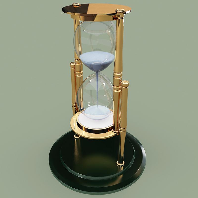 3d hour glass model