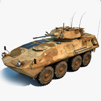 lav 25 amphibious vehicle 3d model