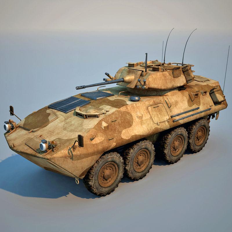 lav 25 amphibious vehicle 3d model