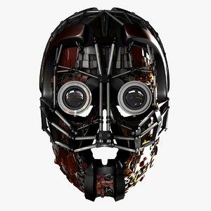 mechano helmet 3d model