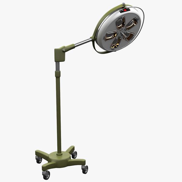 3d mobile medical lamp olh51 model