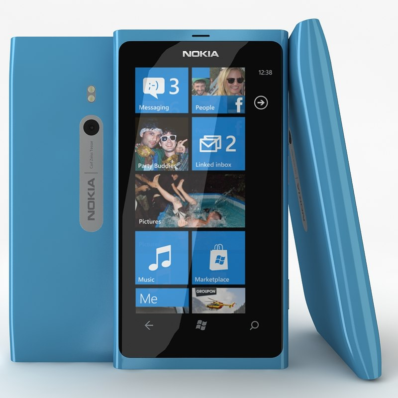 3d model nokia lumia 800