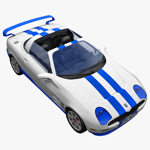 realistic sports car tomaso 3d lwo