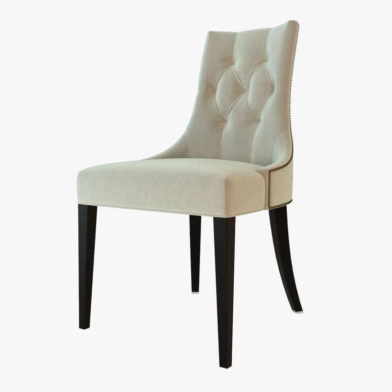 3d model baker chair
