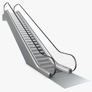 escalator animation 3d model