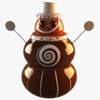 3ds max snowman chocolate